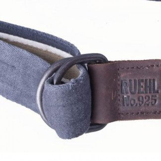 Navy and Camel Cotton Webbing D-Ring Belt