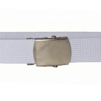 White cotton webbing belt