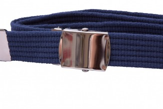Blue ribbed webbing belt