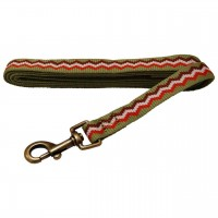 AL Green Jagged Dog Leash, 1-Inch by 5-Feet Recycled Poly Leash