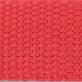 Red polypropylene webbing