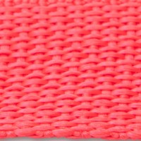 Red polypropylene webbing