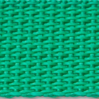 Kelly green polypropylene webbing