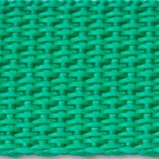 Kelly green polypropylene webbing