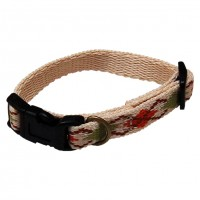 AC Dog Small 1/2-Inch Natural Argyle Recycled Poly Collar, 6-Inch to 9-Inch
