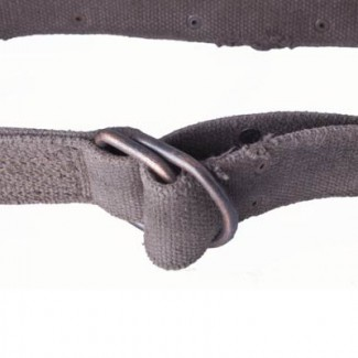 MR Washed Brown Webbing D-Ring Belt with Rivets