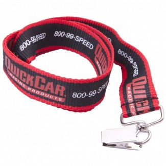 Printed promotional lanyard with flat clip