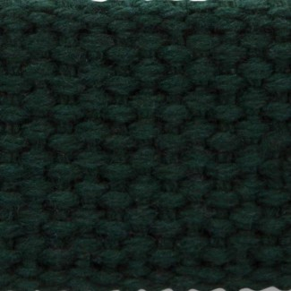 Hunter green cotton webbing