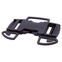 Black plastic 5-sided buckle