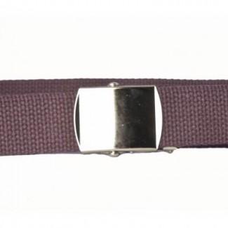 Brown cotton webbing belt