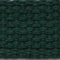 Hunter green lightweight cotton webbing