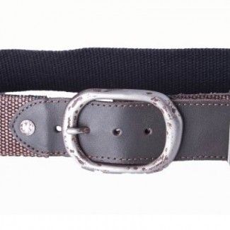 Tobacco Waxed Cotton Webbing Belt