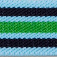 Aqua Multi Polyester Elastic