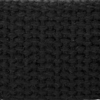 6LL Black Mid-weight Cotton Webbing