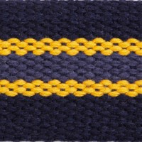 56BS Navy Multi Heavy Weight Cotton Webbing