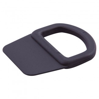 Black plastic sewable D ring