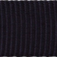 Black tubular nylon webbing