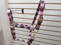 Horse Halter Poly Pro Pink Check