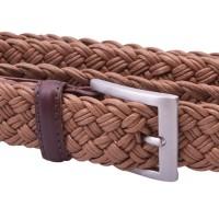 tan braided belt