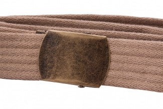 Ribbed webbing belt