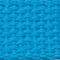 turquoise cotton webbing