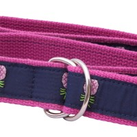 LR Fuschia Webbing Belt with Pineapple Ribbon
