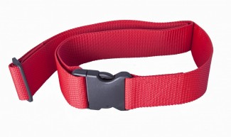 red luggage strap
