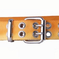 Orange tie dye webbing belt