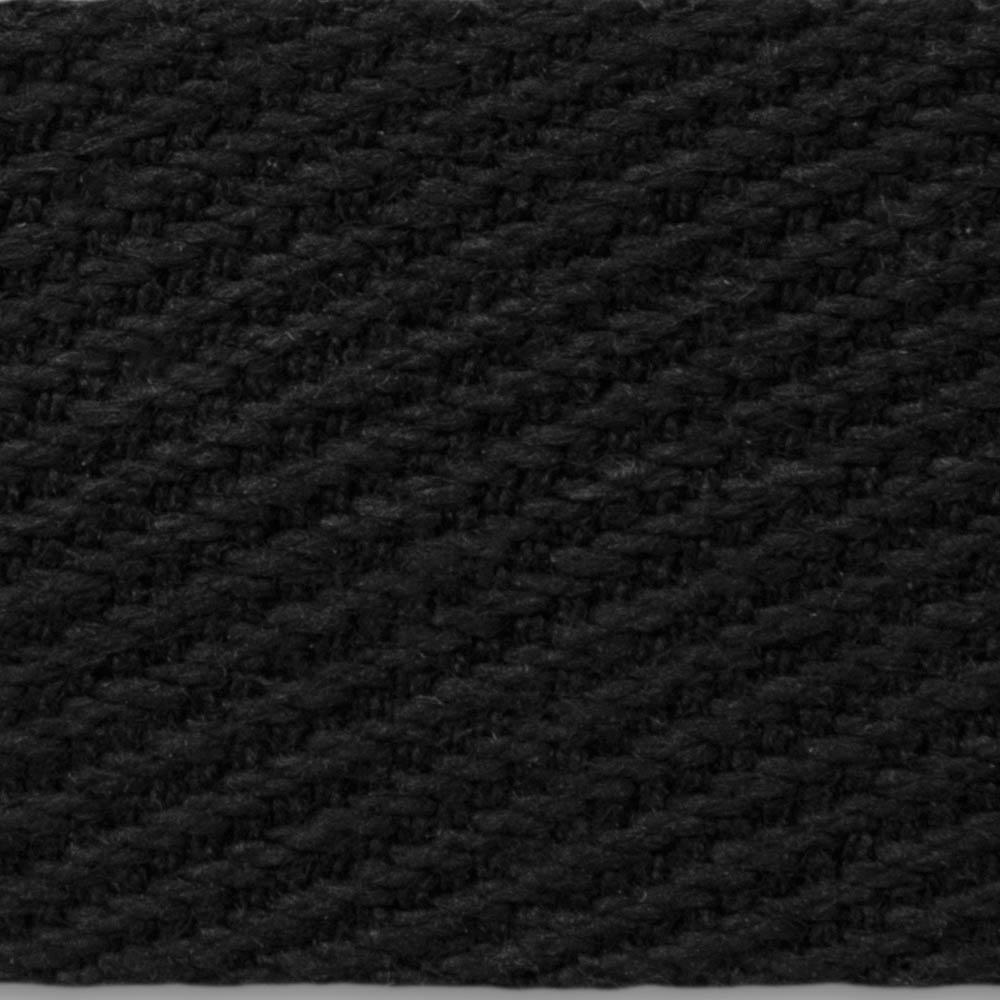 3695 Black Twill Weave Cotton Tape Binding Webbing