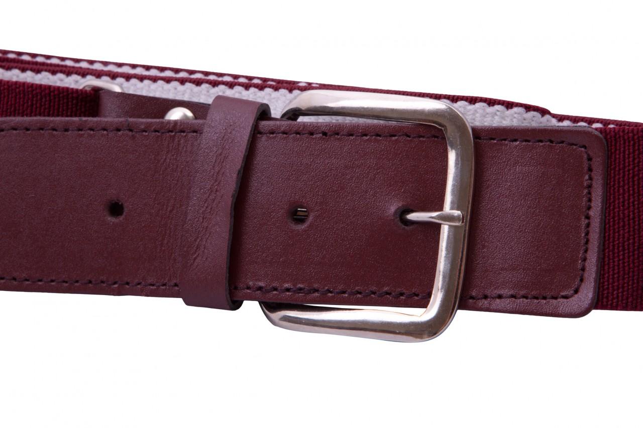 maroon elastic webbing and leather belt national webbing