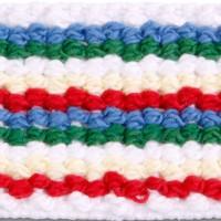 975 Multi Stripe Cotton Elastic