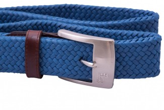 MR Blue Braided Belt with Leather Details