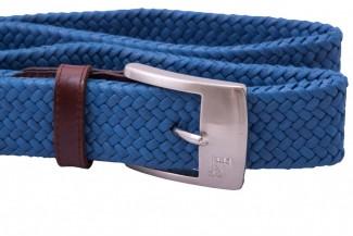 blue braided belt