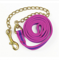 HLC Cotton 6ft. cushion lunge line with loop handle and lead chain