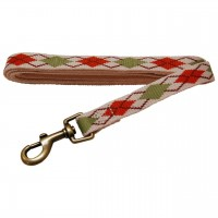 AL Natural Argyle Dog Leash, 3/4-Inch by 5-Feet Recycled Poly Leash