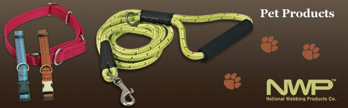 Manufactured Leashes and Collars for Pets