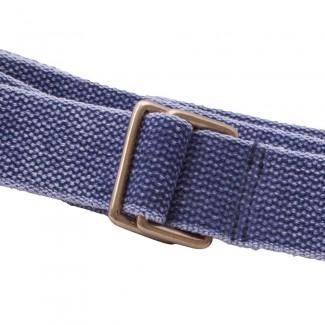 washed blue webbing belt