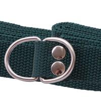 Green webbing d ring belt