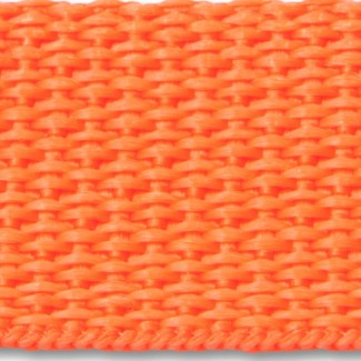 Orange polypropylene webbing