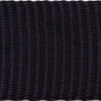 Black tubular nylon webbing