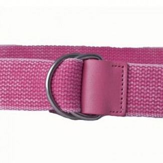 LR Pink Wash Webbing D Ring Belt
