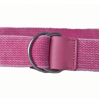 pink wash d ring belt