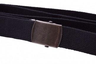 Basic black webbing belt