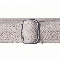 braided cotton belt with slide