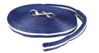 25' Cushion lunge line w  loop handle & bolt snap