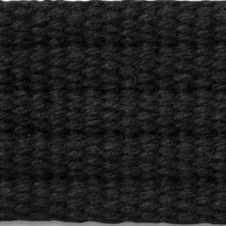 Black 5-rib cotton webbing
