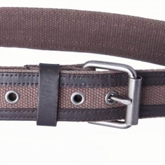 brown webbing belt