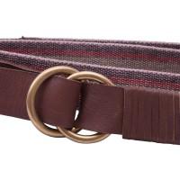 striped webbing d ring belt