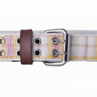 Cotton Webbing with Plaid Ribbon Belt