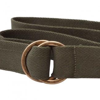 Olive Webbing O Ring Belt